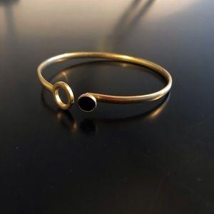 Madewell Jewelry - Madewell Bangle with Black Stone